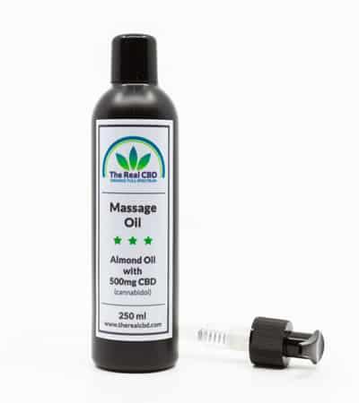 almond CBD massage oil